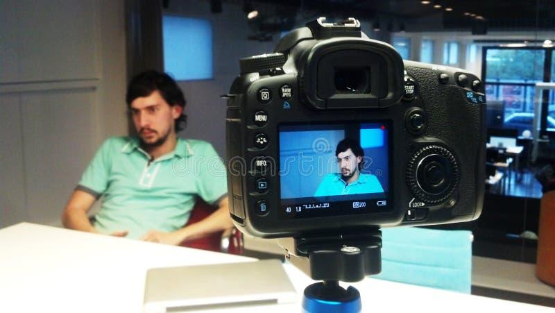 wywiad fotografia stock