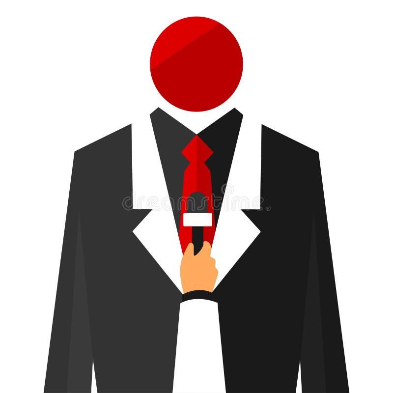 wywiad Mężczyzna i reporter ilustracja wektor