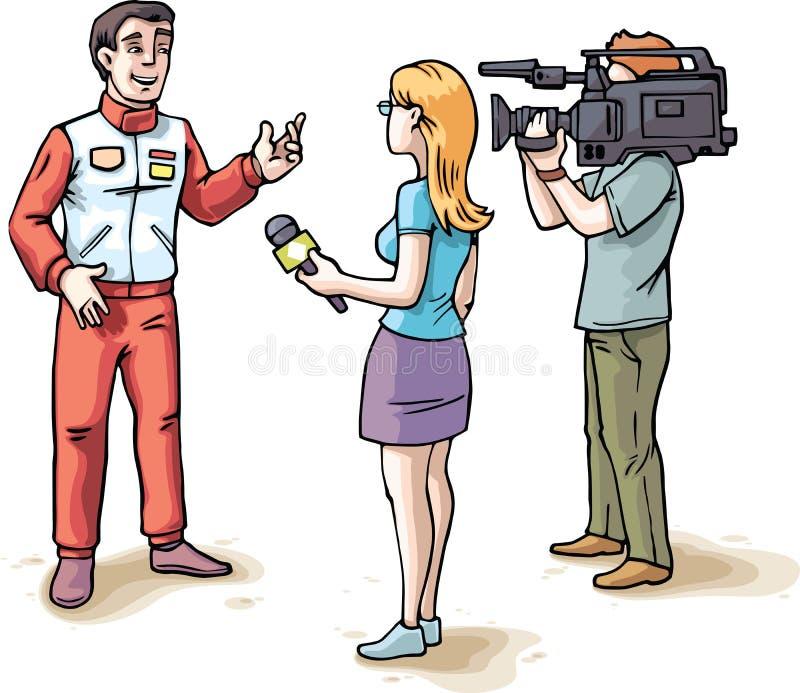 Wywiad z setkarzem ilustracja wektor
