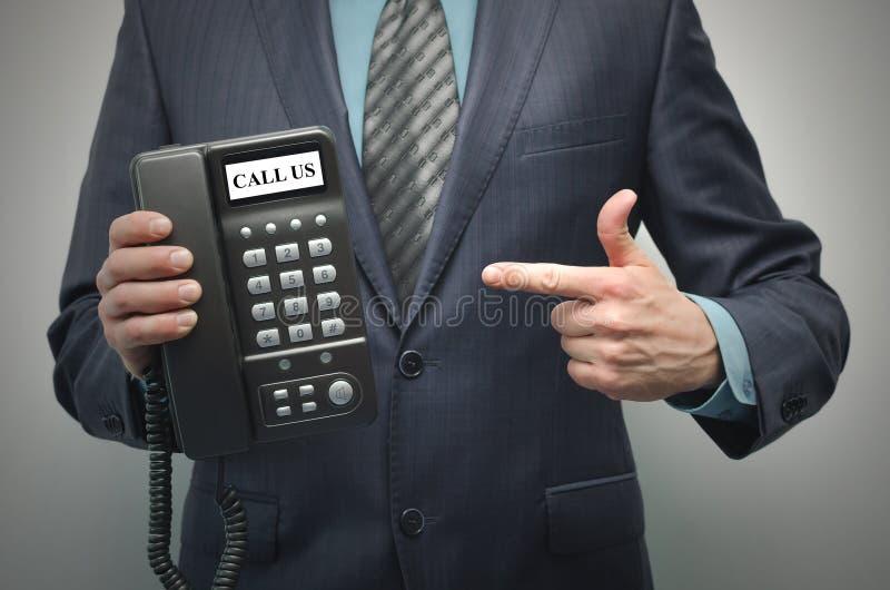 Wywoławcza USA kontaktuje się poczta dzwoni my fotografia stock