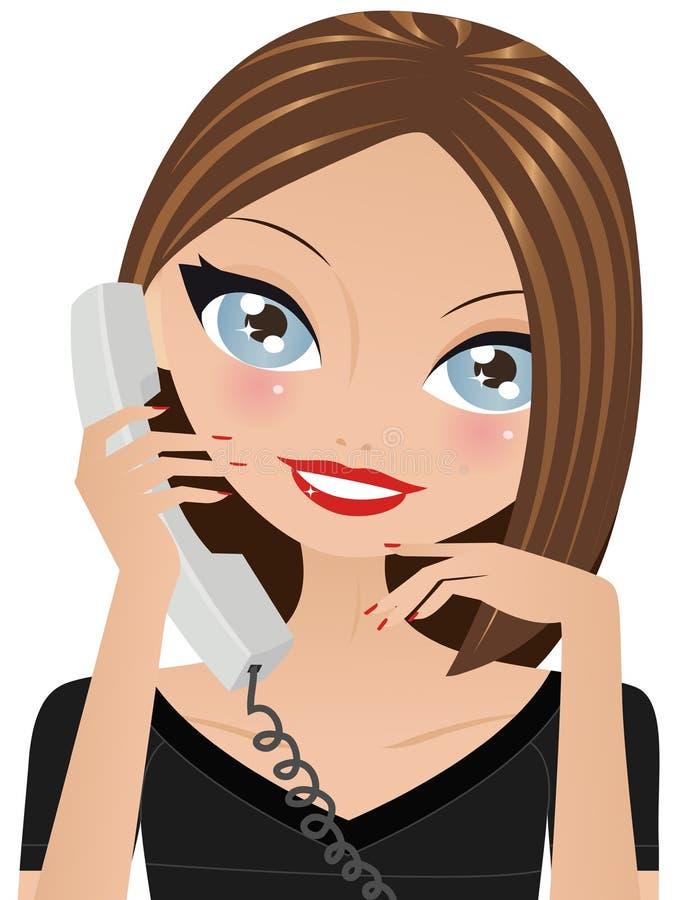 wywoławczy telefon royalty ilustracja