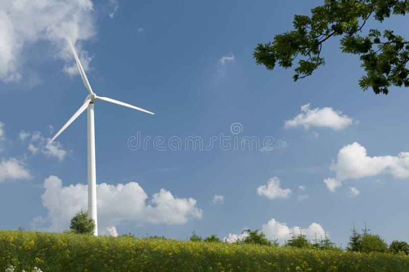 wywołujący władzy turbina wiatr fotografia royalty free