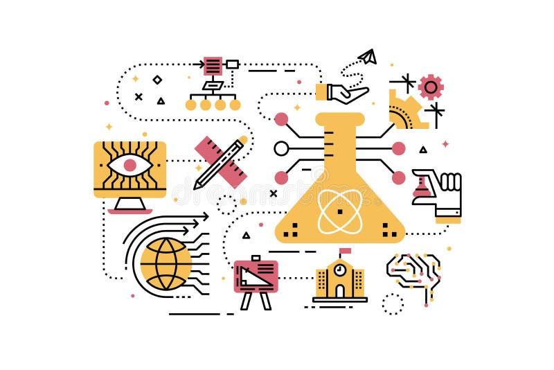WYWODZI SIĘ naukę, technologia, inżynieria, matematyki edukacja ilustracji