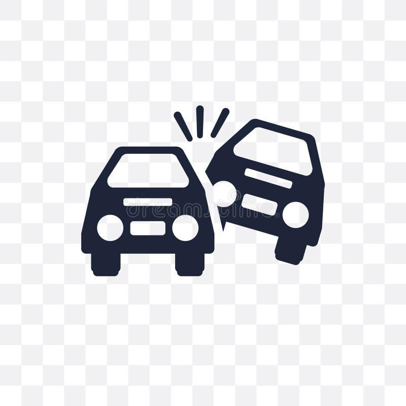 Wywrócona samochodowa przejrzysta ikona Wywrócony samochodowy symbolu projekt fr ilustracji