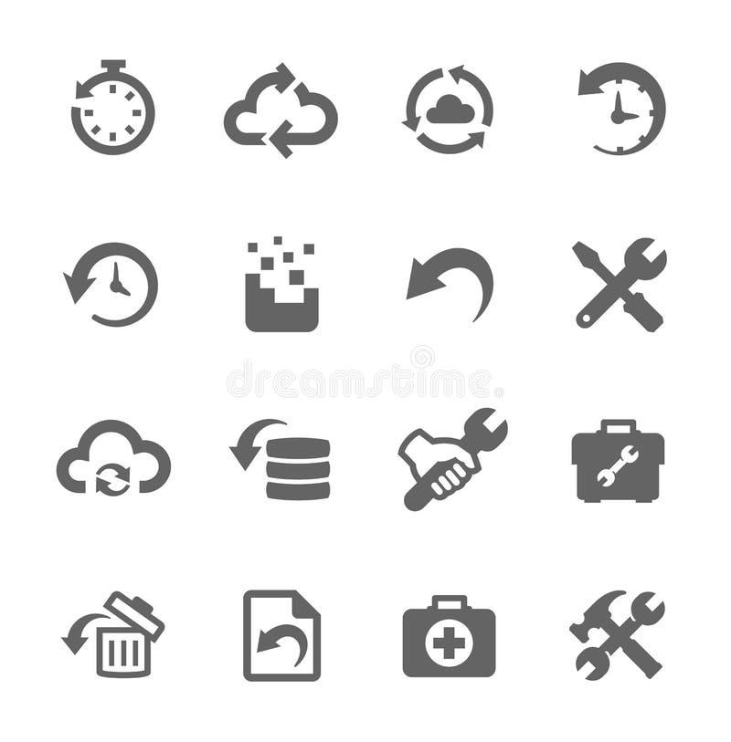 Wyzdrowienia i naprawy ikony ilustracji