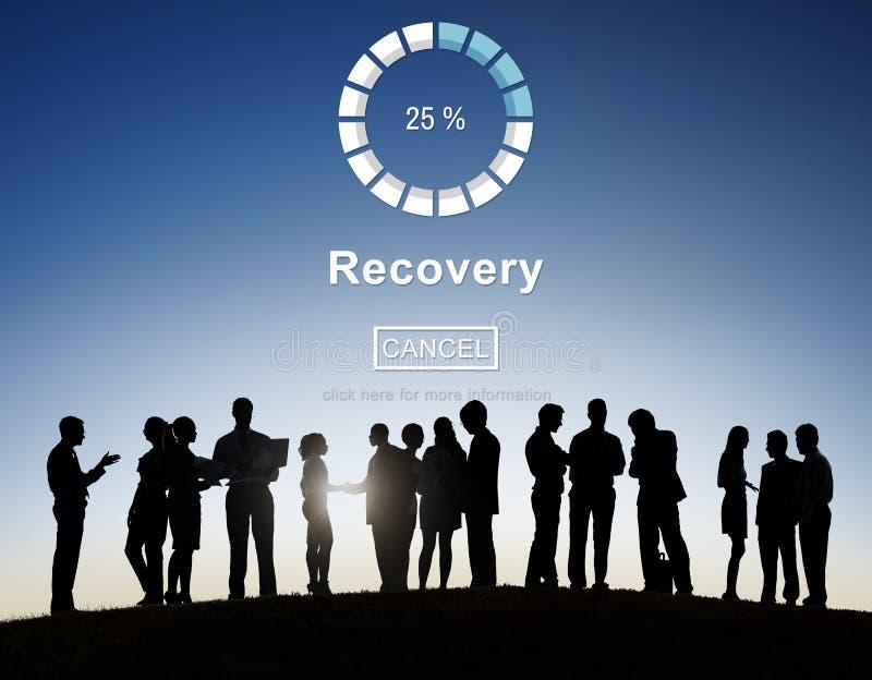 Wyzdrowienia przywrócenia przechowywania danych ochrony Pomocniczy pojęcie fotografia stock
