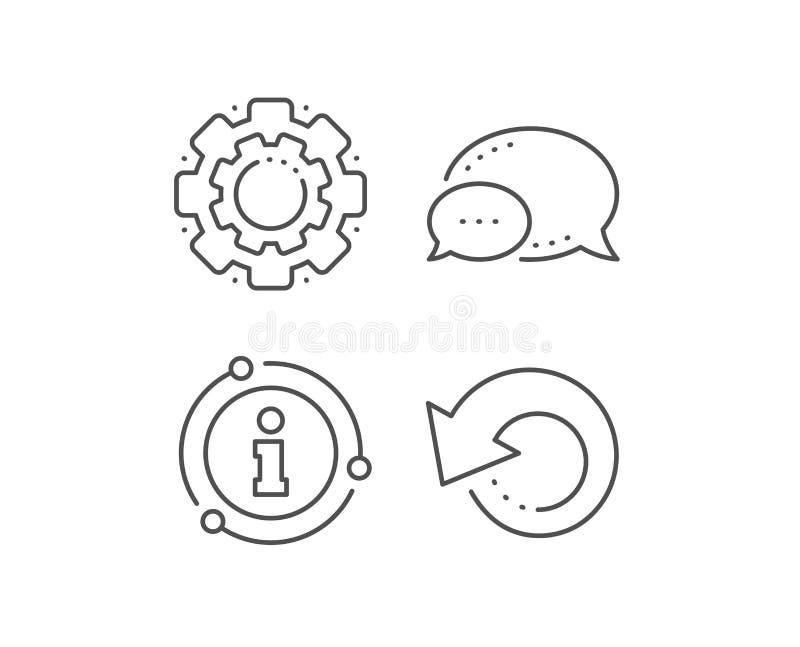 Wyzdrowienie informacji linii ikona Pomocniczy dane znak Przywr?ci? informacja wektor ilustracji