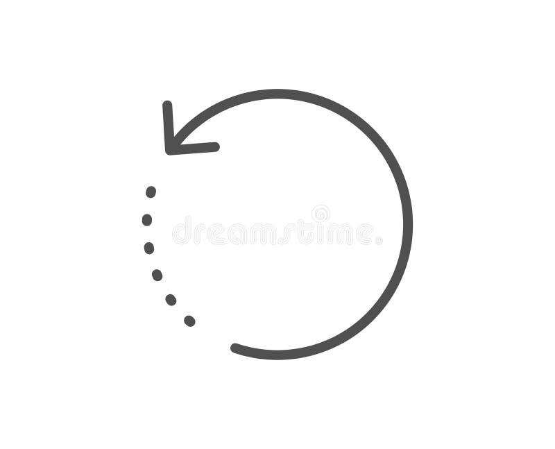 Wyzdrowienie informacji linii ikona Pomocniczy dane znak Przywr?ci? informacja wektor ilustracja wektor
