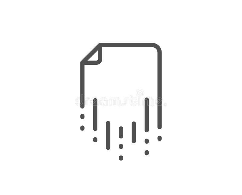 Wyzdrowienie kartoteki linii ikona Pomocniczy dane znak Przywrócić dokument wektor ilustracja wektor