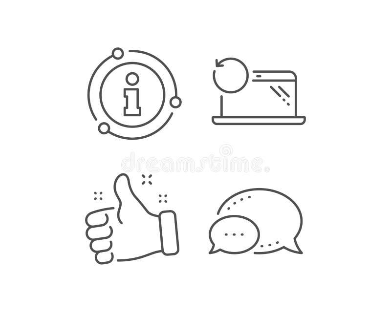 Wyzdrowienie laptopu linii ikona Pomocniczy dane znak Przywr?ci? smartphone informacja wektor ilustracja wektor