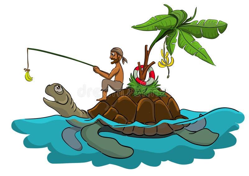 Wyzdrowienie od żółwia ilustracji