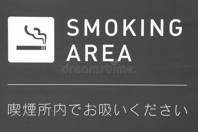 Wyznaczający dymienie terenu znak zdjęcia stock