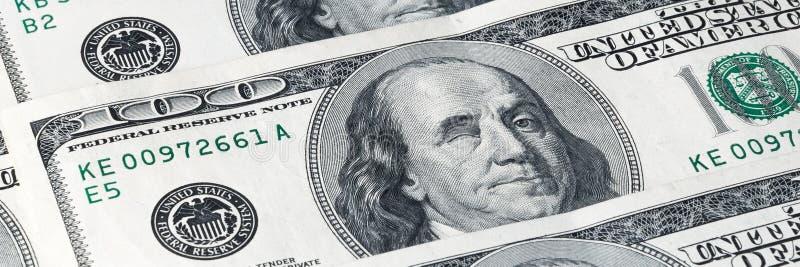 Wyznania sto dolarów, lokalizować na przekątnie Franklin mrugnięcia obraz royalty free