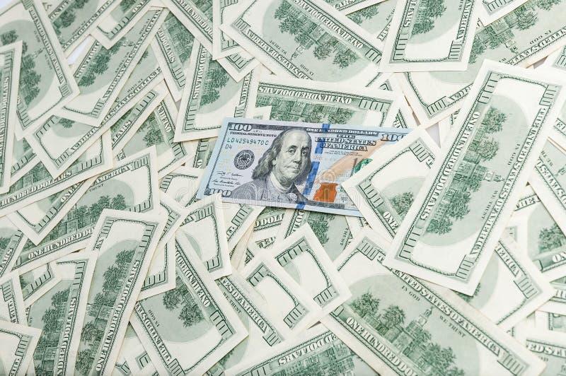 Wyznania sto dolarów Tło banknoty elementy projektu tła ilustracji dolarowy wektora fotografia stock