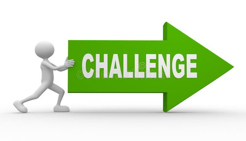 Wyzwanie royalty ilustracja