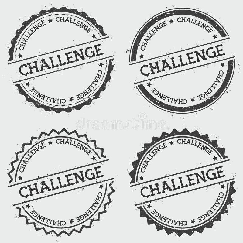 Wyzwanie insygni znaczek odizolowywający na bielu royalty ilustracja