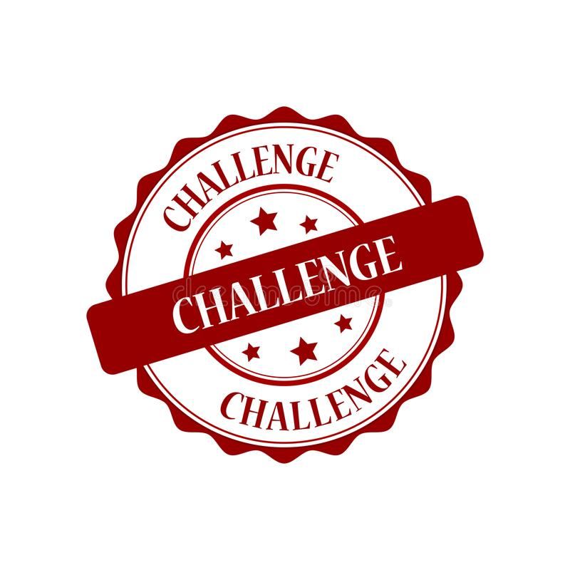 Wyzwanie stemplowa ilustracja royalty ilustracja