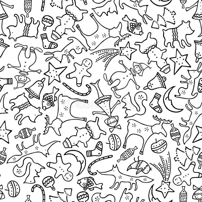 Wzór boże narodzenie prezenty ilustracji