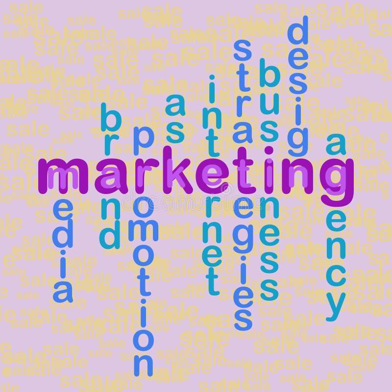 Wzór, łamigłówka z słowo biznesu pojęciami Sprzedaże i marketin ilustracji