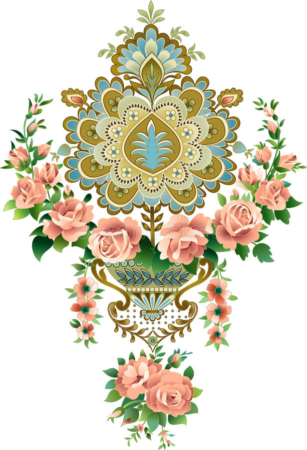 wzór royalty ilustracja
