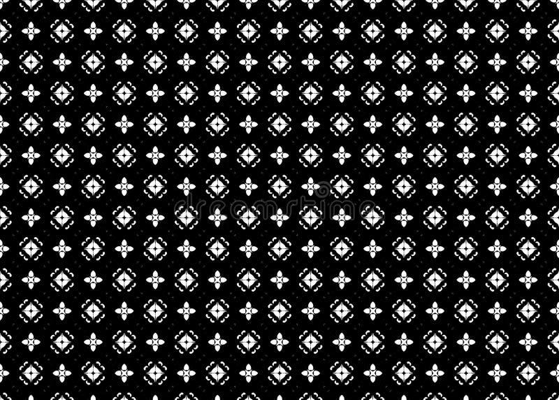 wzór Abstrakt B&W sztuka czerep odszyfrowywa ilustracja wektor