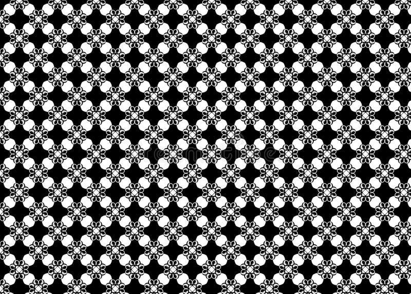 wzór Abstrakt sztuka czerep B&W odszyfrowywa royalty ilustracja
