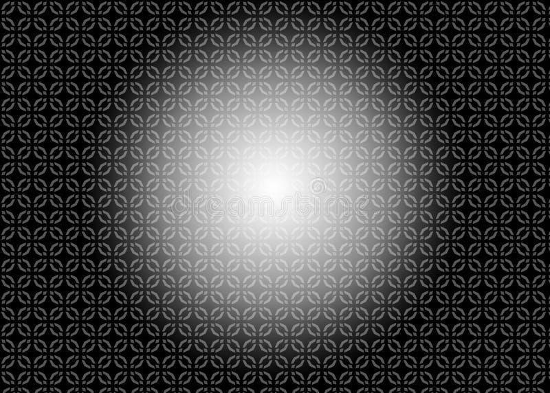 wzór Abstrakt sztuka czerep odszyfrowywa czerń royalty ilustracja