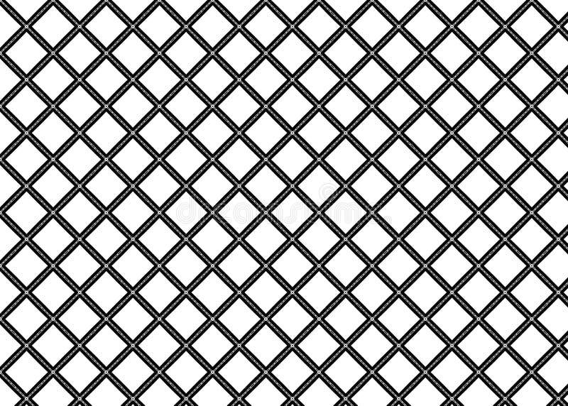 wzór Abstrakt sztuka czerep odszyfrowywa linie B&W royalty ilustracja