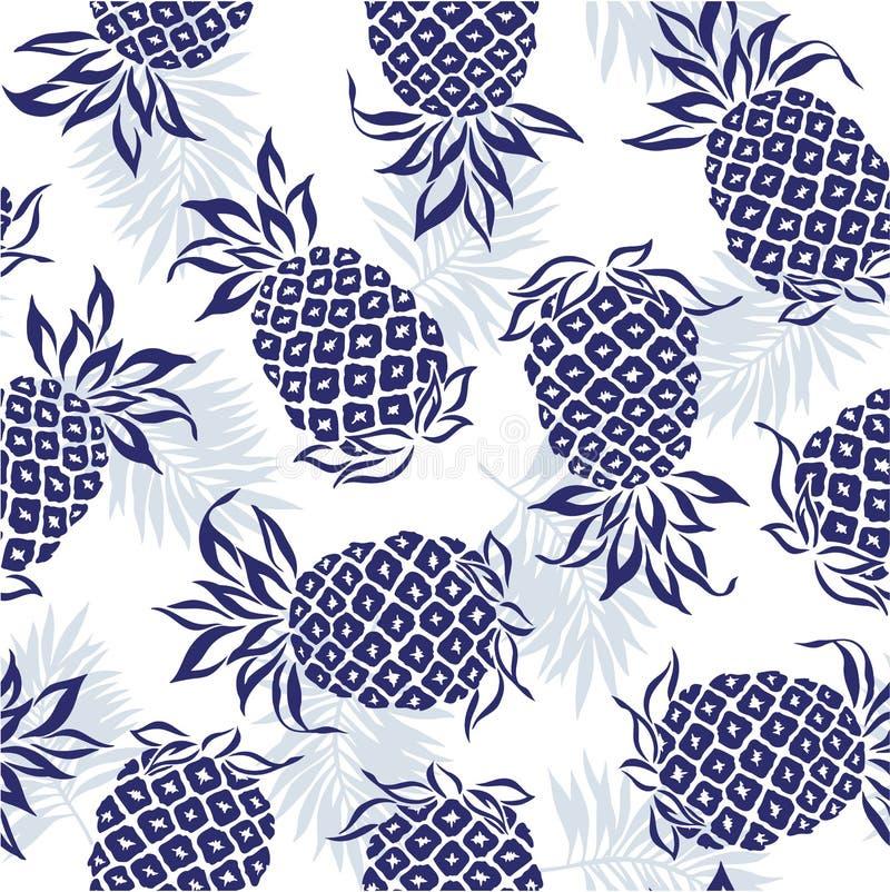 Wzór ananas ilustracja wektor