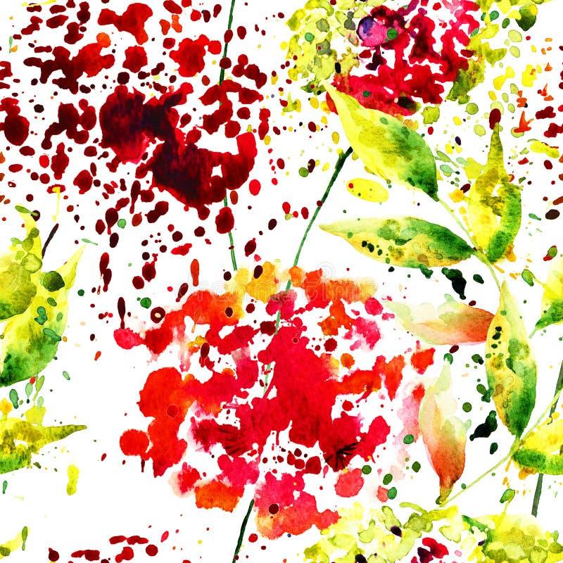 wzór bezszwowy abstrakcyjne kwiat ilustracji
