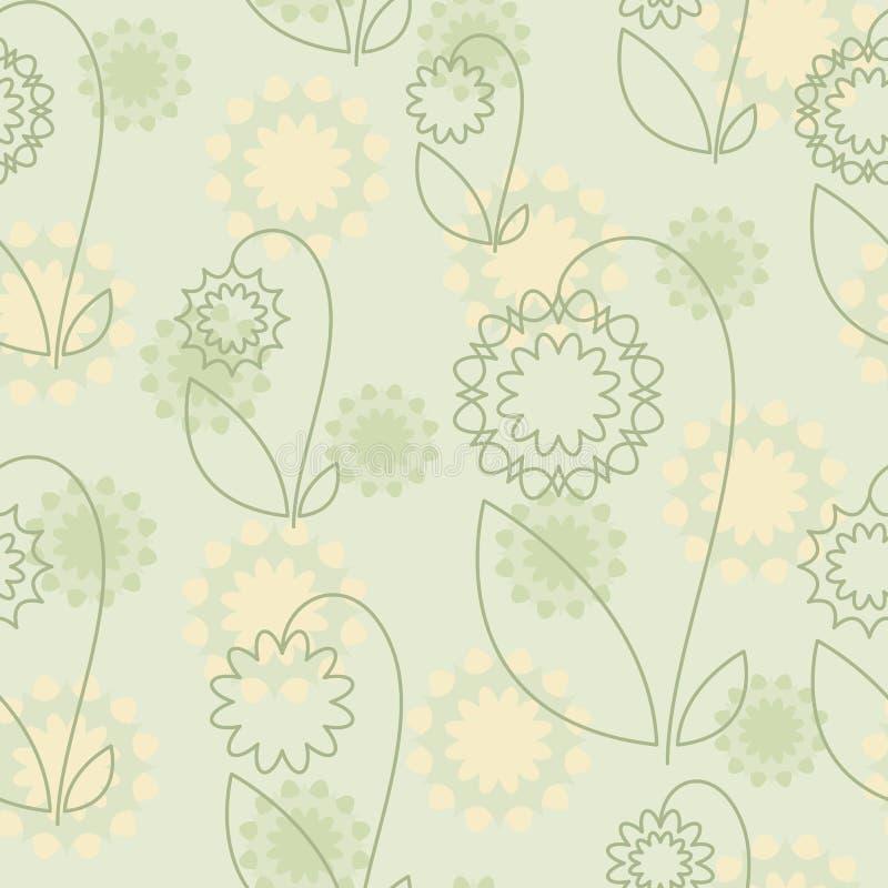 wzór bezszwowy abstrakcyjne kwiat royalty ilustracja