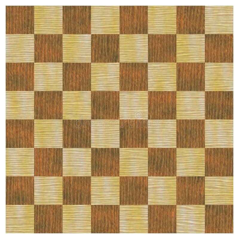 wzór bezszwowy checker intarsi drewna ilustracja wektor