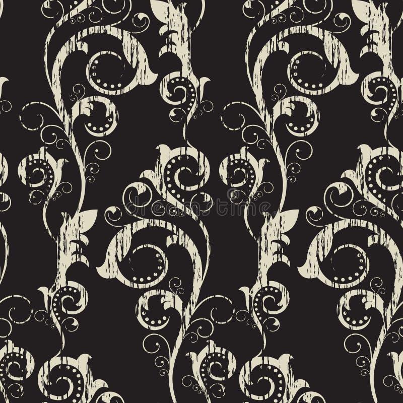 wzór bezszwowy gałąź abstrakcyjne ilustracja wektor