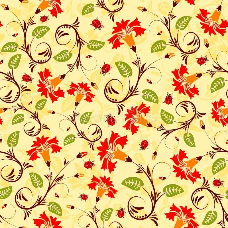 wzór bezszwowy kwiat ilustracji
