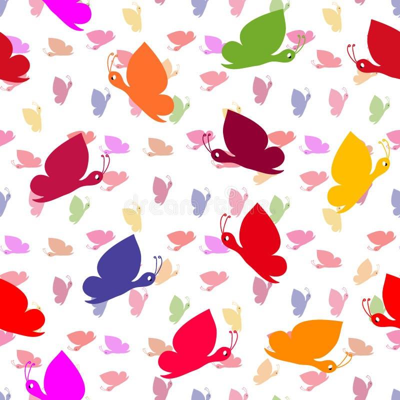wzór bezszwowy motyla royalty ilustracja