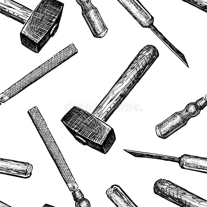 Wzór budów narzędzia royalty ilustracja
