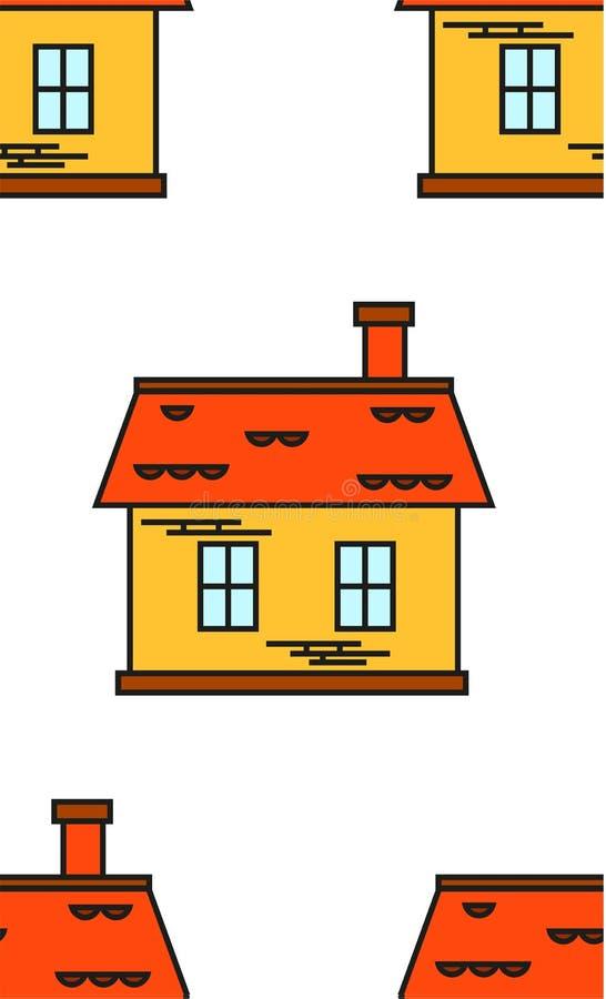 Wzór cegła barwiący domy royalty ilustracja