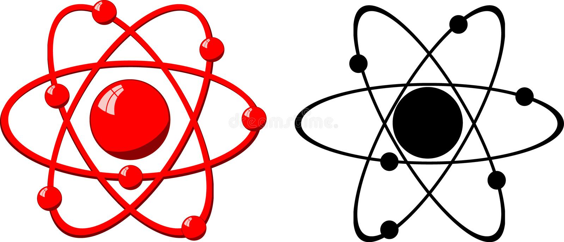 wzór cząsteczki atomu royalty ilustracja