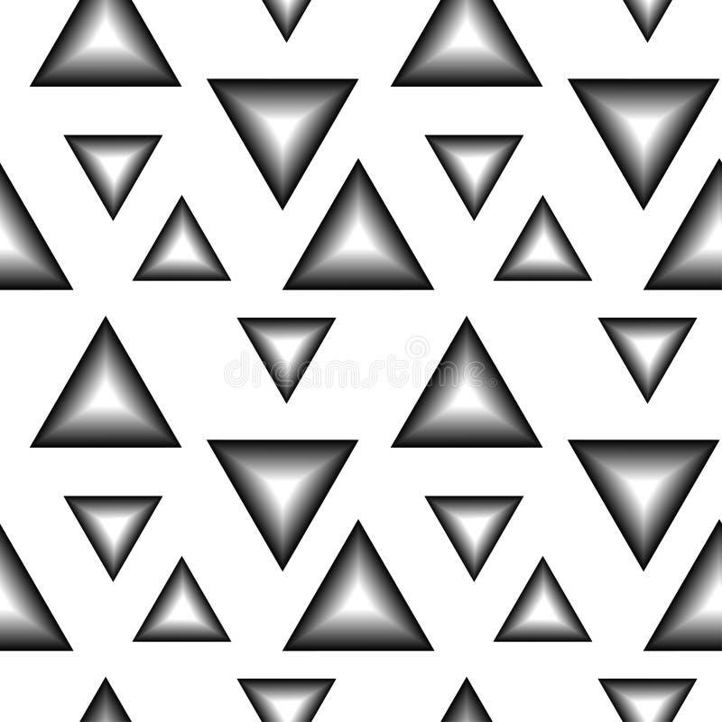 Wzór czarny i biały trójboki ilustracji