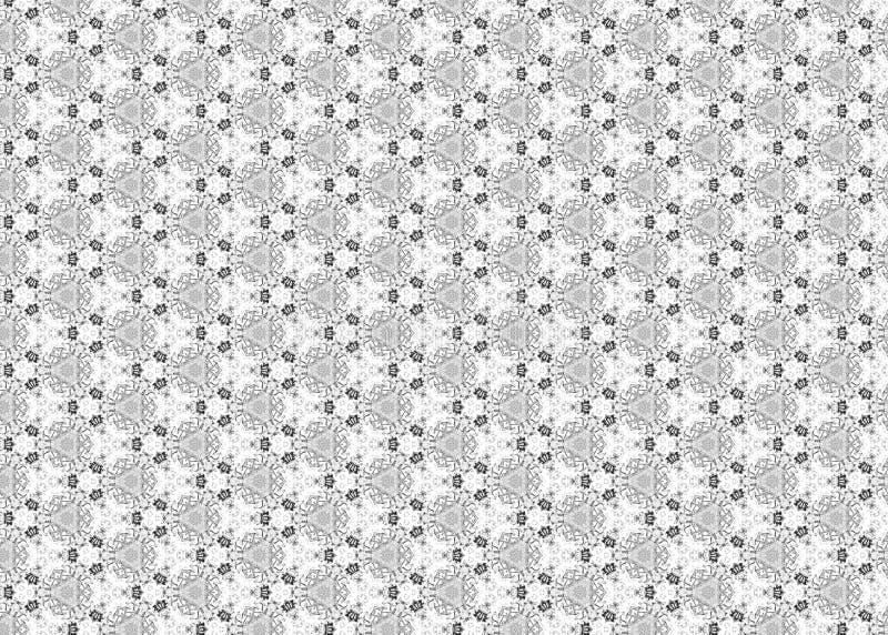 wzór czerep Abstrakt B&W odszyfrowywa sztuka ilustracji