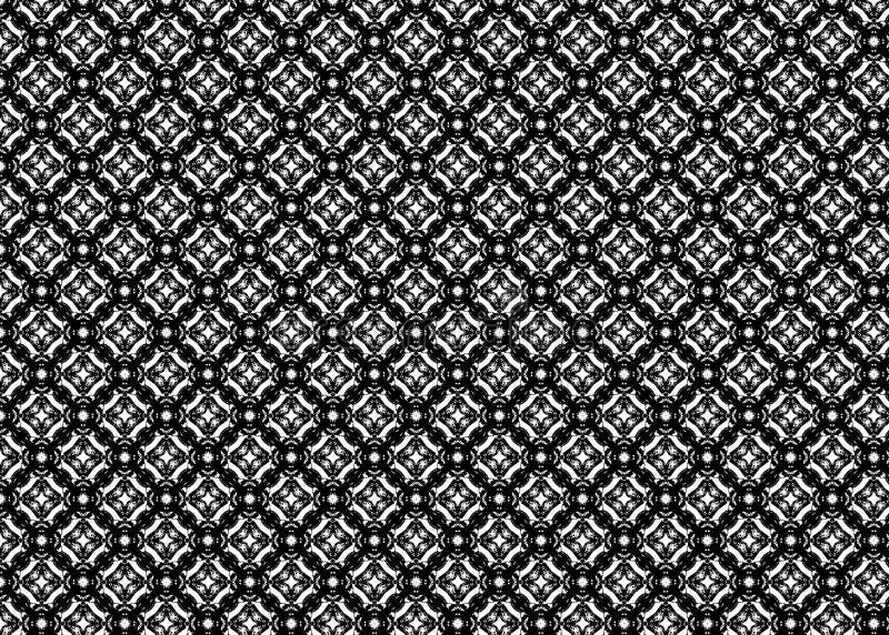wzór czerep Abstrakt B&W odszyfrowywa sztuka projektujący royalty ilustracja