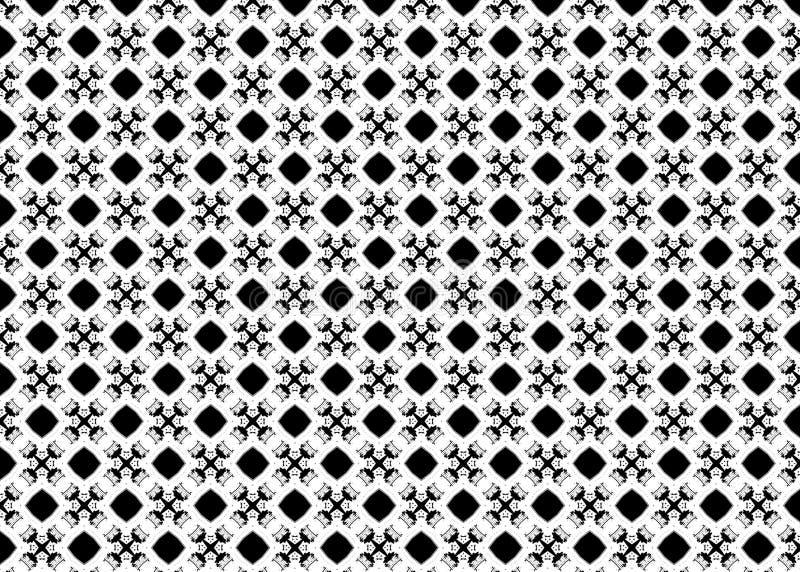 wzór czerep Abstrakt B&W sztuka odszyfrowywa royalty ilustracja