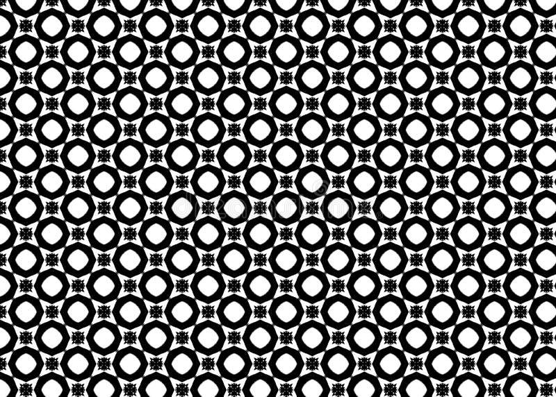 wzór czerep Abstrakt projektujący B&W odszyfrowywa sztuka ilustracji