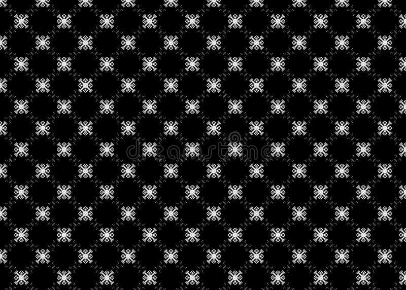 wzór czerep sześciany Abstrakt B&W odszyfrowywa sztuka ilustracji
