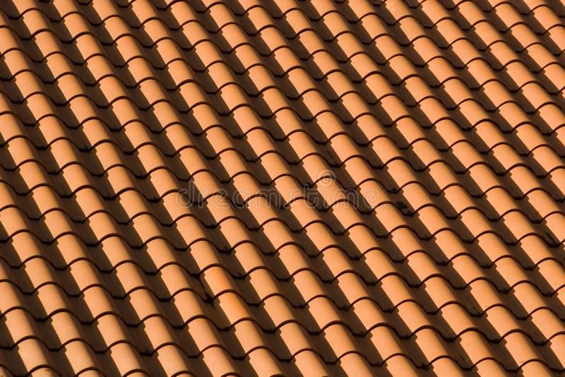 wzór czerwoną dachową płytkę obrazy stock
