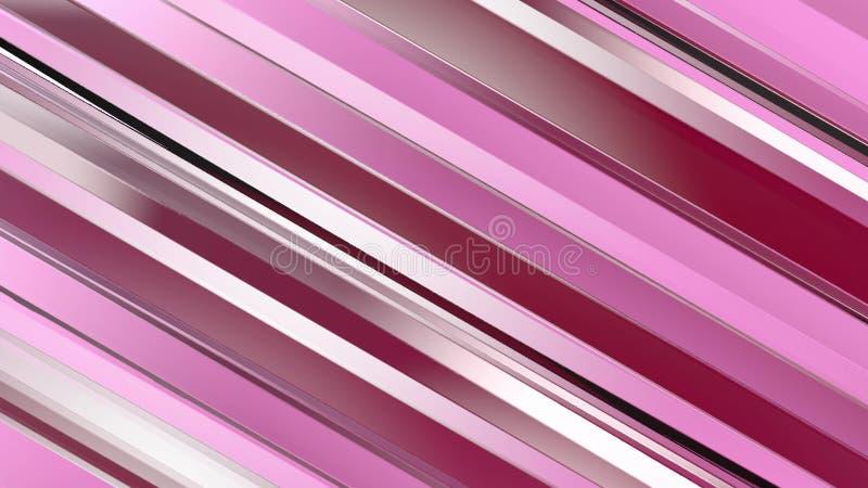 Wzór czerwonego koloru pasków graniastosłupy abstrakcyjny tło royalty ilustracja