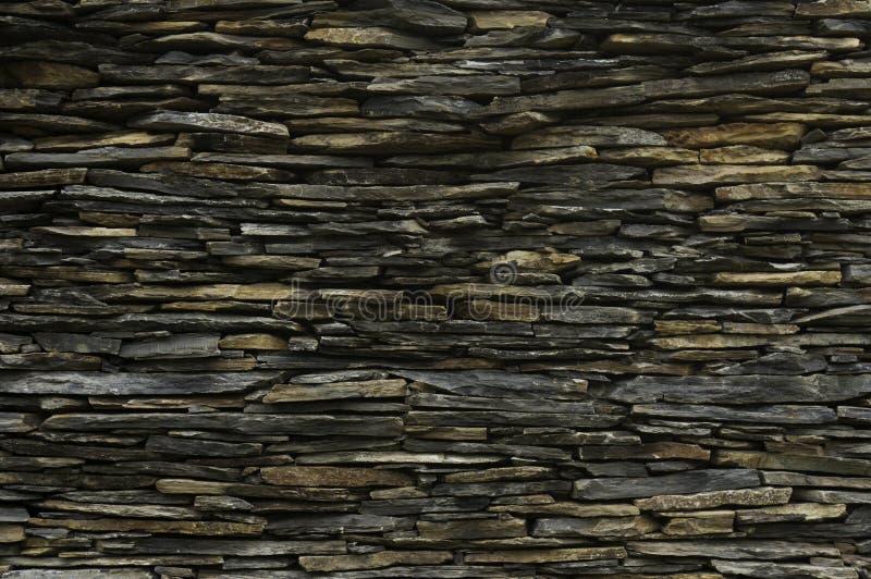 Wzór dekoracyjna łupkowa kamiennej ściany powierzchnia fotografia royalty free