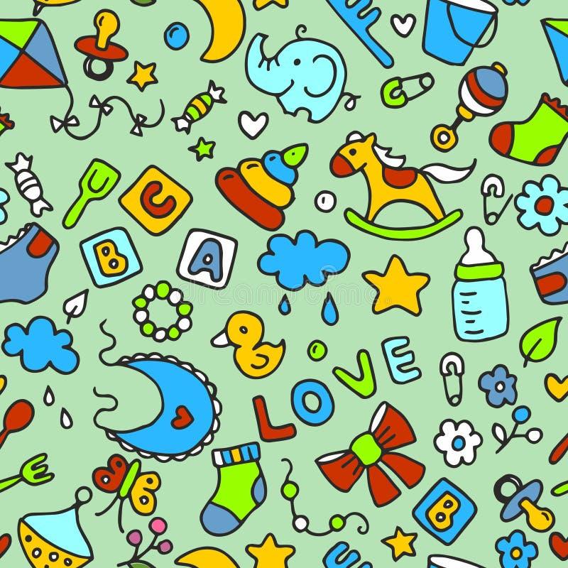 Wzór dla dzieciaków i projekta royalty ilustracja