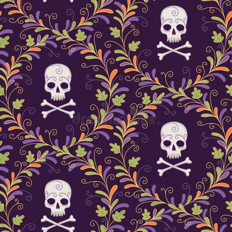 Wzór dla Halloween ilustracji