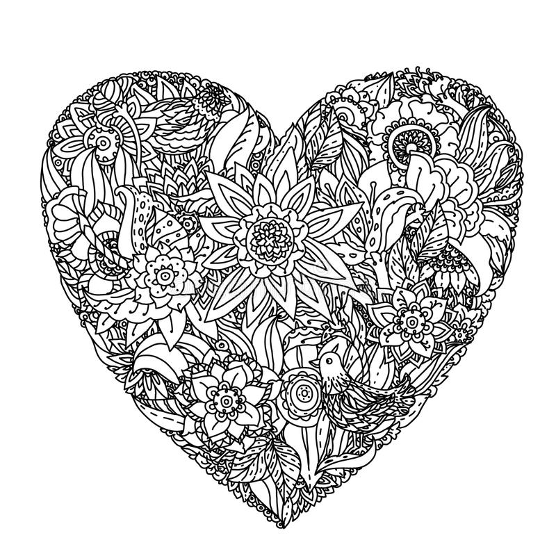 Wzór dla kolorystyki książki ilustracja wektor